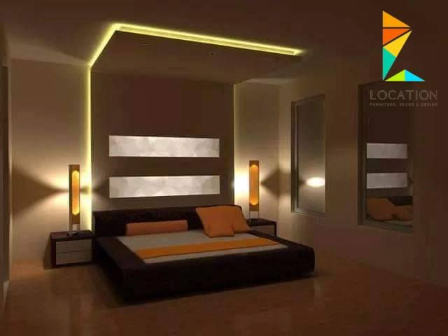 ديكور جبس غرف نوم 2017 2018 Bedroom False Ceiling Design Led Lighting Bedroom Furniture Design