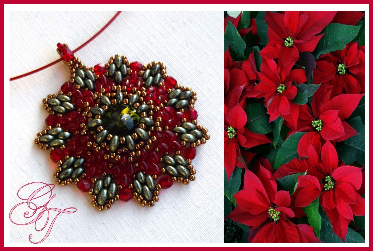 Адвент- календарь. Пуансеттия. | biser.info - всё о бисере и бисерном творчестве