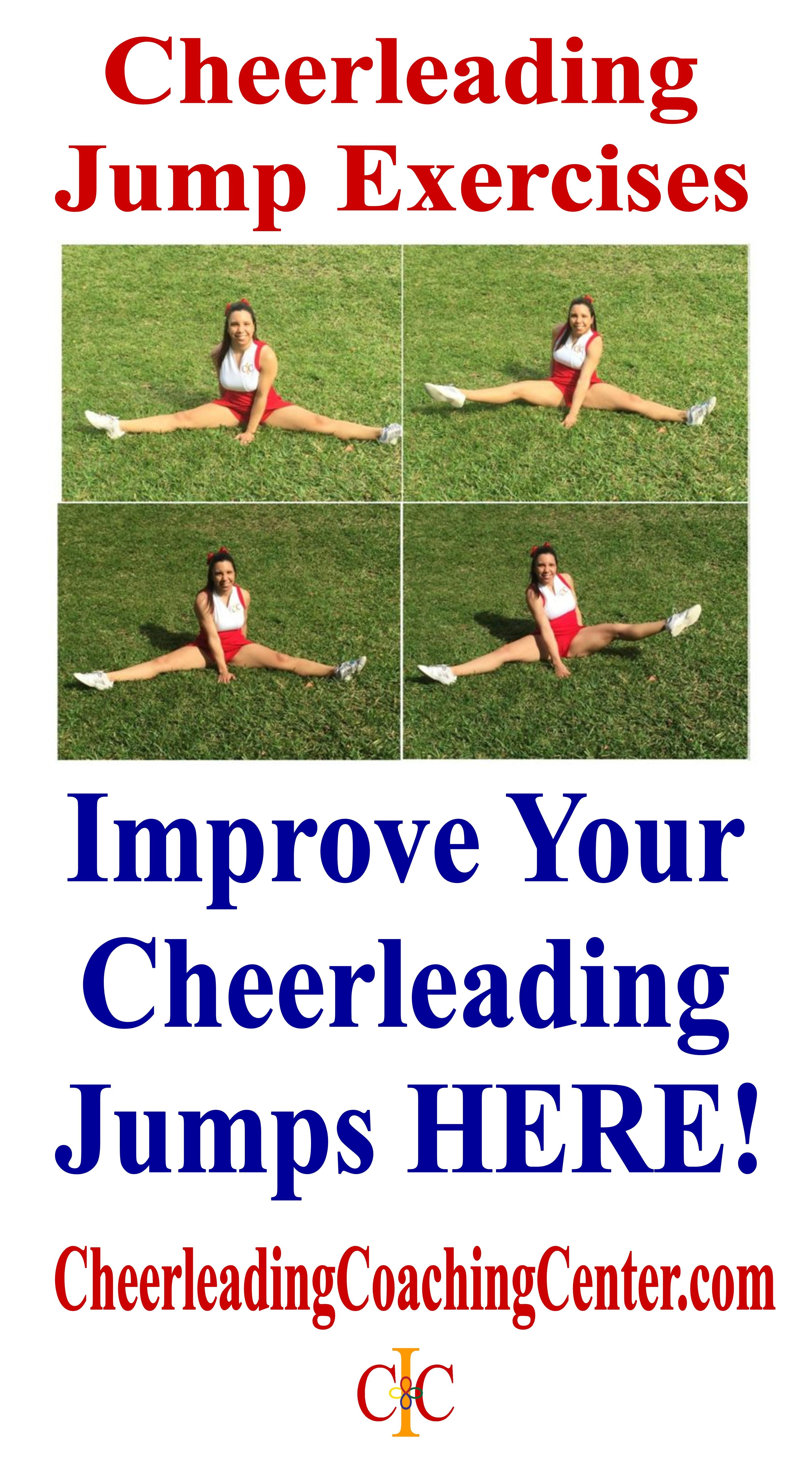 Are you ready to improve your jumps? Check out these cheerleading exercises on CheerleadingCoachingCenter.com :-) #cheerworkouts