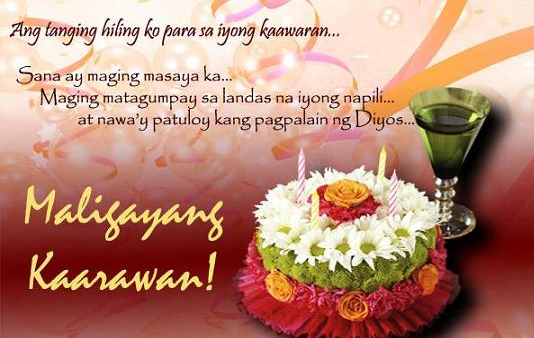 Tagalog Birthday Messages Tagalog Quotes Birthday