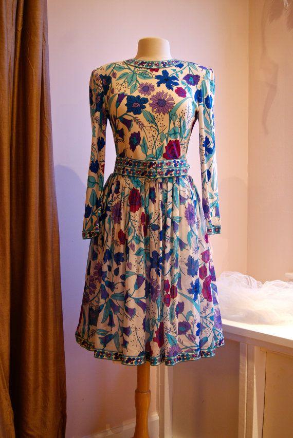 Reserved Vintage Silk Jersey Dress By Bessi 80s Designer Etsy Vintage Clothing Boutique Dresses Vintage Outfits