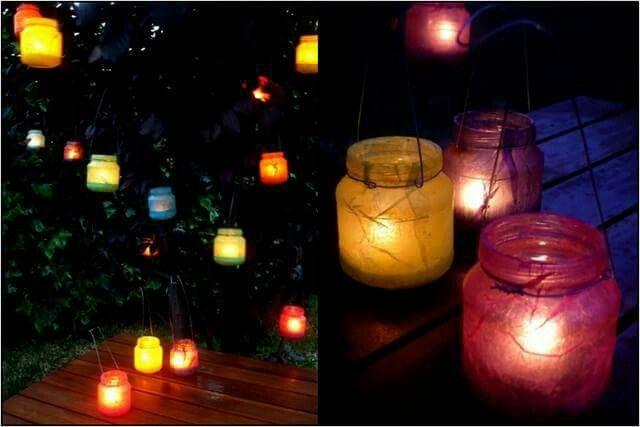 Lanterne colorate con vasetti omogeneizzati idee per la casa