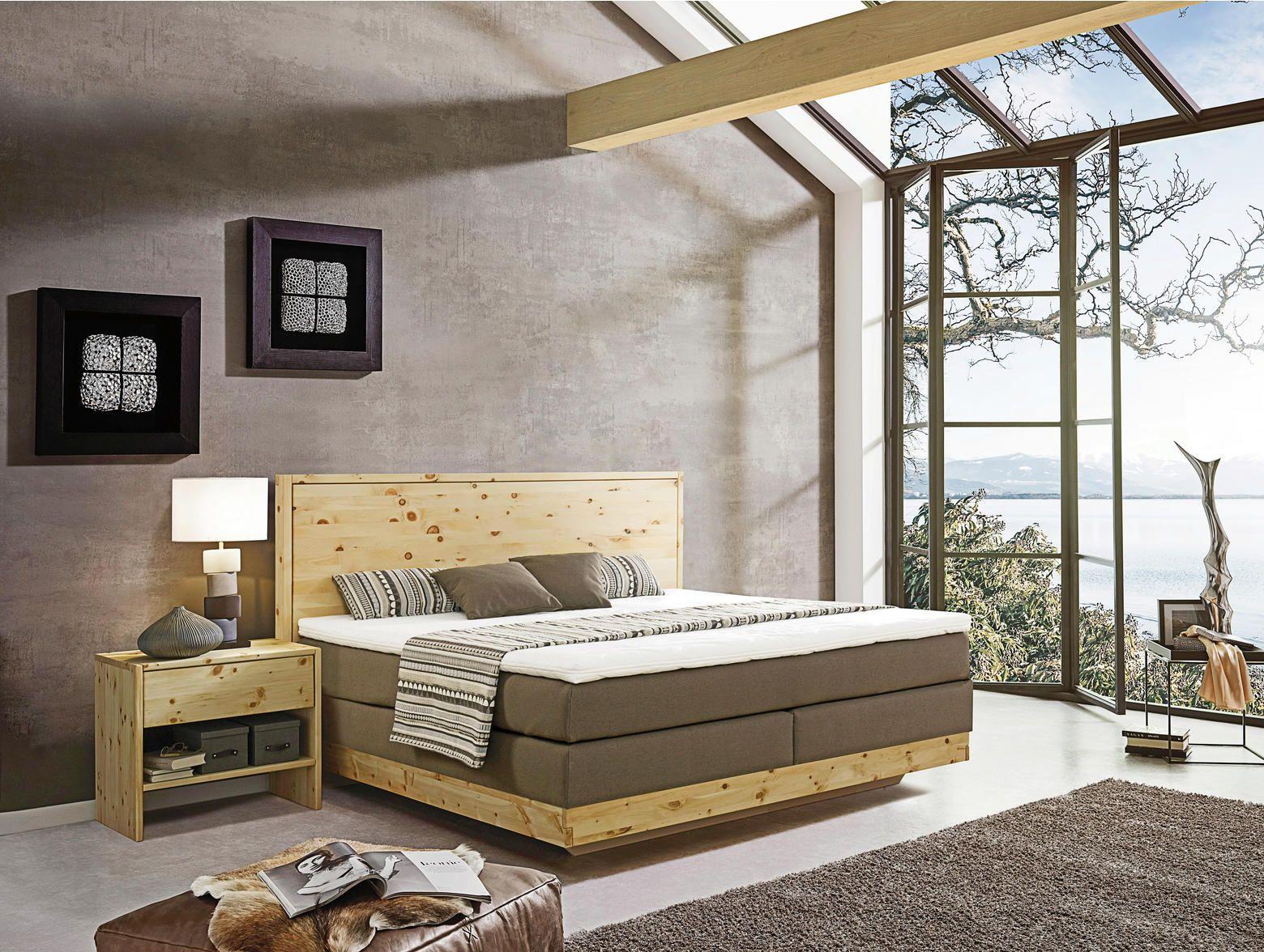 Boxspringbett 180 Cm X 200 Cm In Holz Textil Beige In 2019