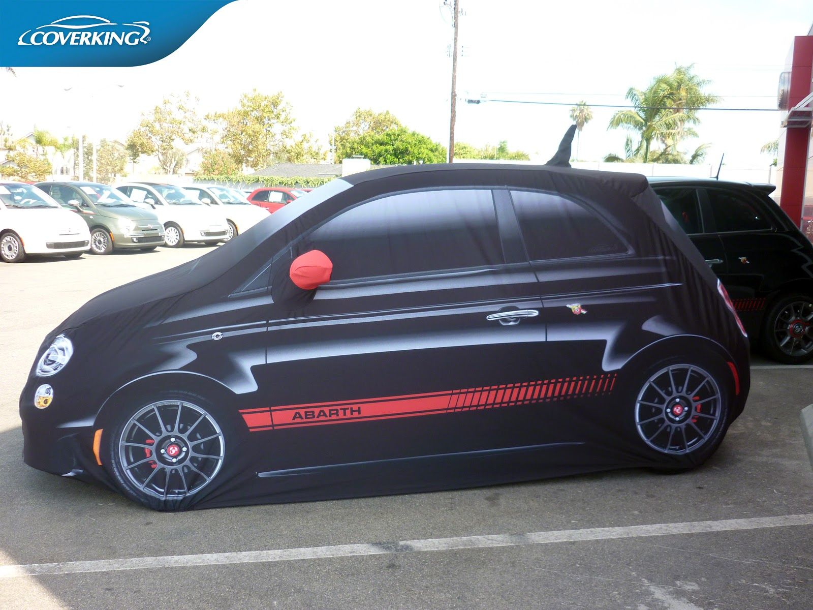 New Graphic Printed Custom Fit Indoor Car Cover for Fiat 500 Abarth