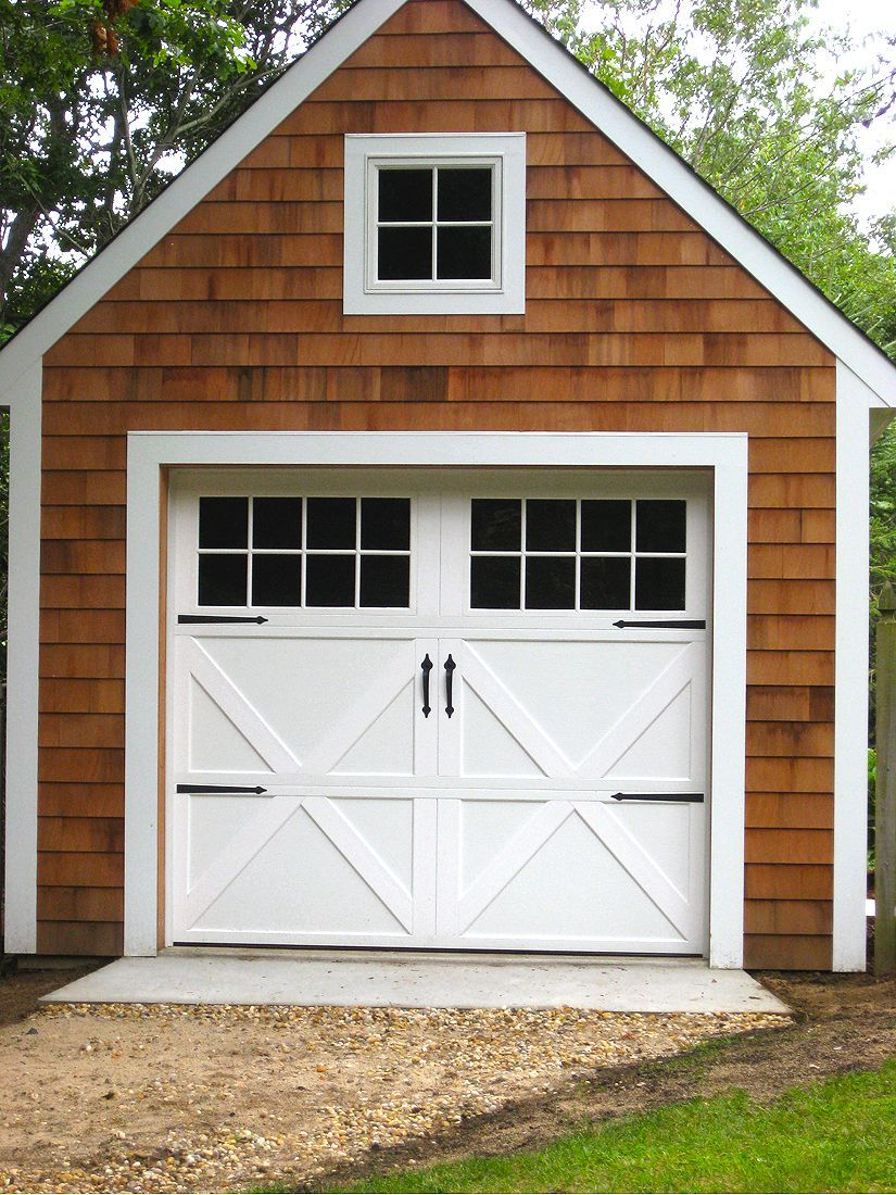 Makeover This Garage Was Turned Into The Coolness Home Carriage House Doors Garage Door Design Carriage Garage Doors