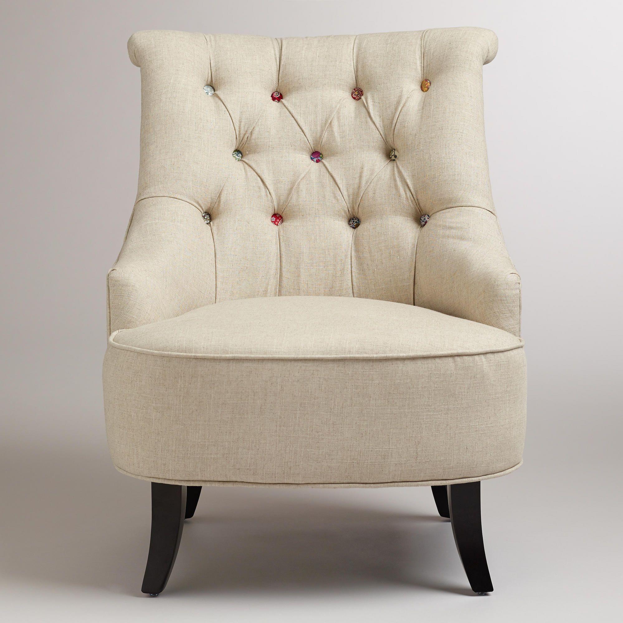 Cuteasabutton erin chair tufted accent chair