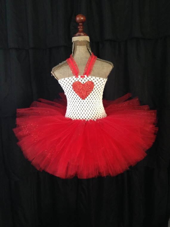 9f03f38332 Make this Valentines day extra lovely! The red tulle, skirt is really poofy,  and has glitter strands throughout adding extra sparkle!