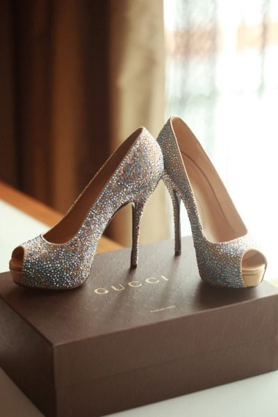 Sparkly Gucci shoes: http://www.stylemepretty.com/ohio-weddings/columbus/2014/06/10/new-years-eve-wedding-celebration/ | Photography: Red Gallery - http://www.redgalleryphoto.com/