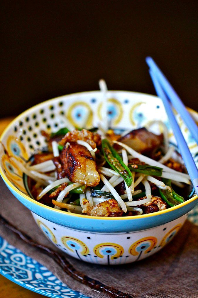 Chicken over vermicelli asian