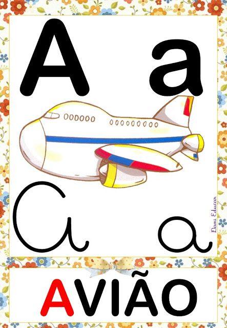 Alfabeto Educa E Alfabetiza Atividades Alfabetizacao E