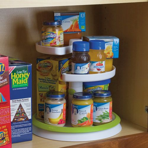 OXO 10 Inch Two Tier Turntable Baby Food Organizer   This Looks Very Cool!