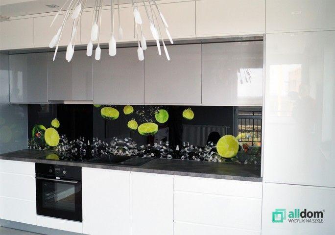 Panel Szklany W Kuchni Z Limonkami Cytrusy Limonki Woda Swiezosc Kitchen Appliances Kitchen Kitchen Cabinets