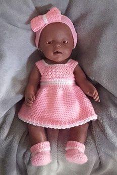 Baby Born Setje Roos Puppen Kleidung Nahen Mutze Stricken Kinder Puppenkleidung Hakeln