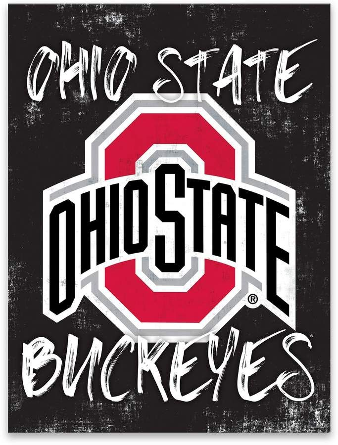 Ohio State Buckeyes Grunge Canvas Wall Art