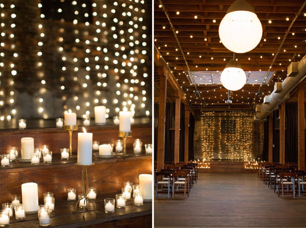 how to use candles to decorate your wedding how to use christmas lights to decorate your wedding classic ba warehouse wedding