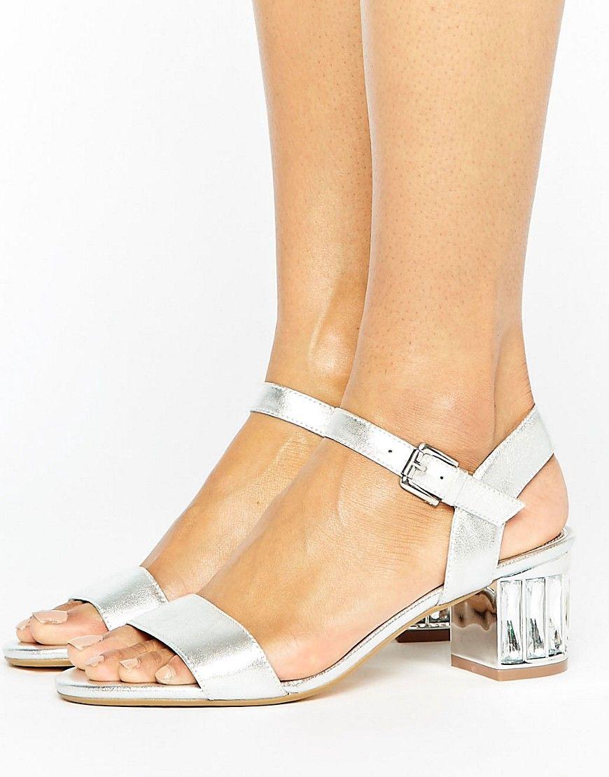 7139ad40ecc Dune London Bridal Marcia Kitten heel Sandals - Silver