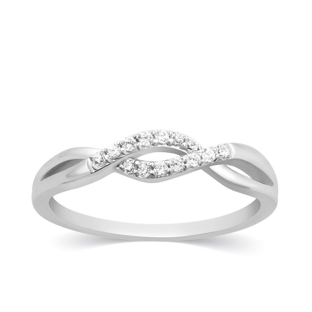 1 10 Ct Real Diamond Infinity Wedding Ring Womens Stackable Band 14k White Gold Carats Infinity Ring Wedding Stackable Rings Wedding Inexpensive Wedding Rings