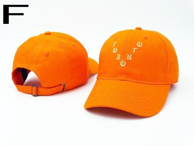 935550f6c8e83 Men s   Women s Kanye West I Feel Like Pablo Toronto City Adjustable  Baseball Dad Hat - Orange