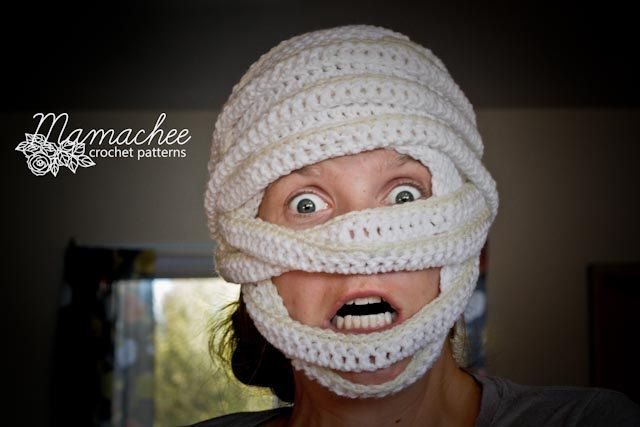 CROCHET PATTERN - Mummy Hat (Sizes 6 mo - Large Adult). $4.00, via Etsy.