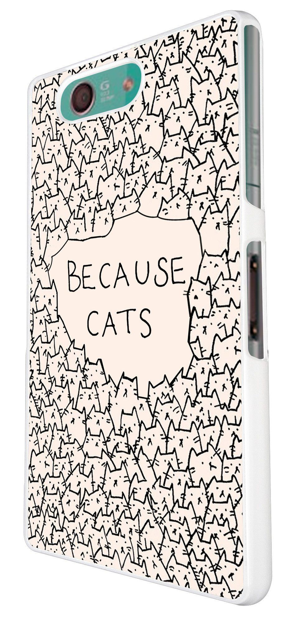Sony Xperia Z3 Compact Mini Because Cats Collage Sketch Multi Cats Cute Funky Design Fashion Trend Hulle Case Back Cover Meta Sony Xperia Z3 Sony Xperia Sony