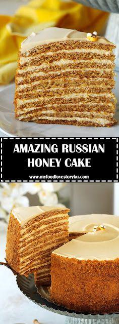 THE MOST AMAZING RUSSIAN HONEY CAKE - #recipes #honeycake