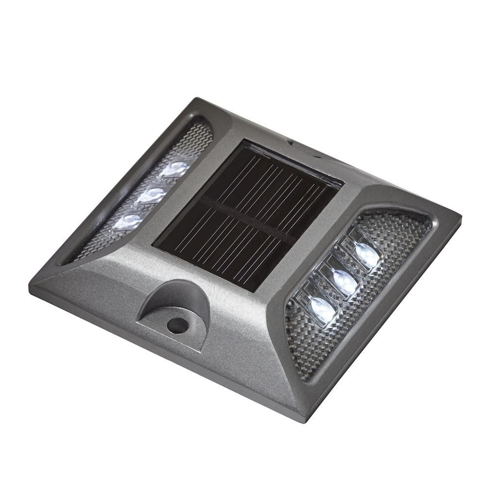 Solar Powered Silver Heavy Duty Integrated LED Dock, Deck ...