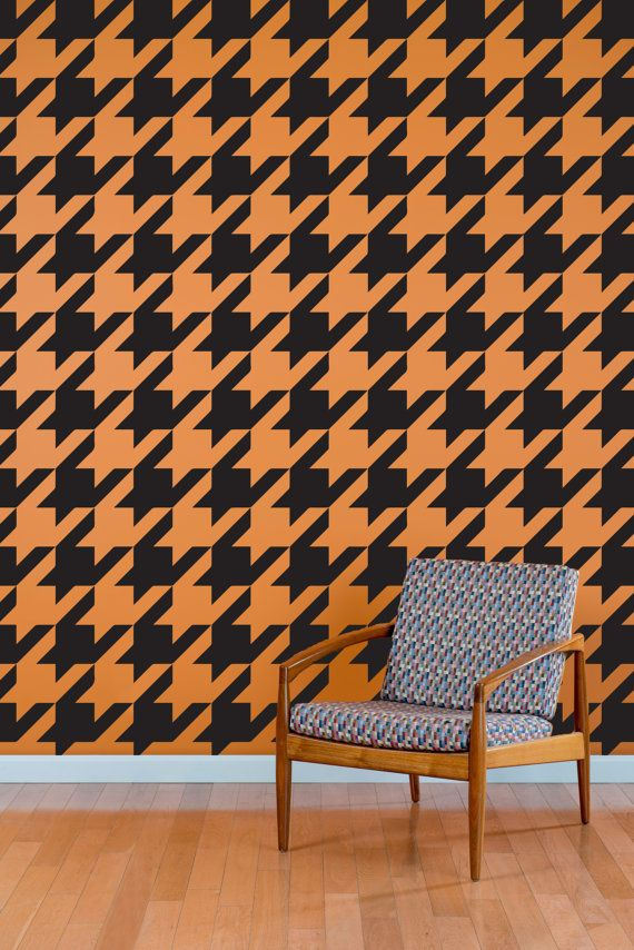 Houndstooth Wall Decal Pattern Wall Decal Custom Vinyl Art - Custom vinyl wall decals for classrooms