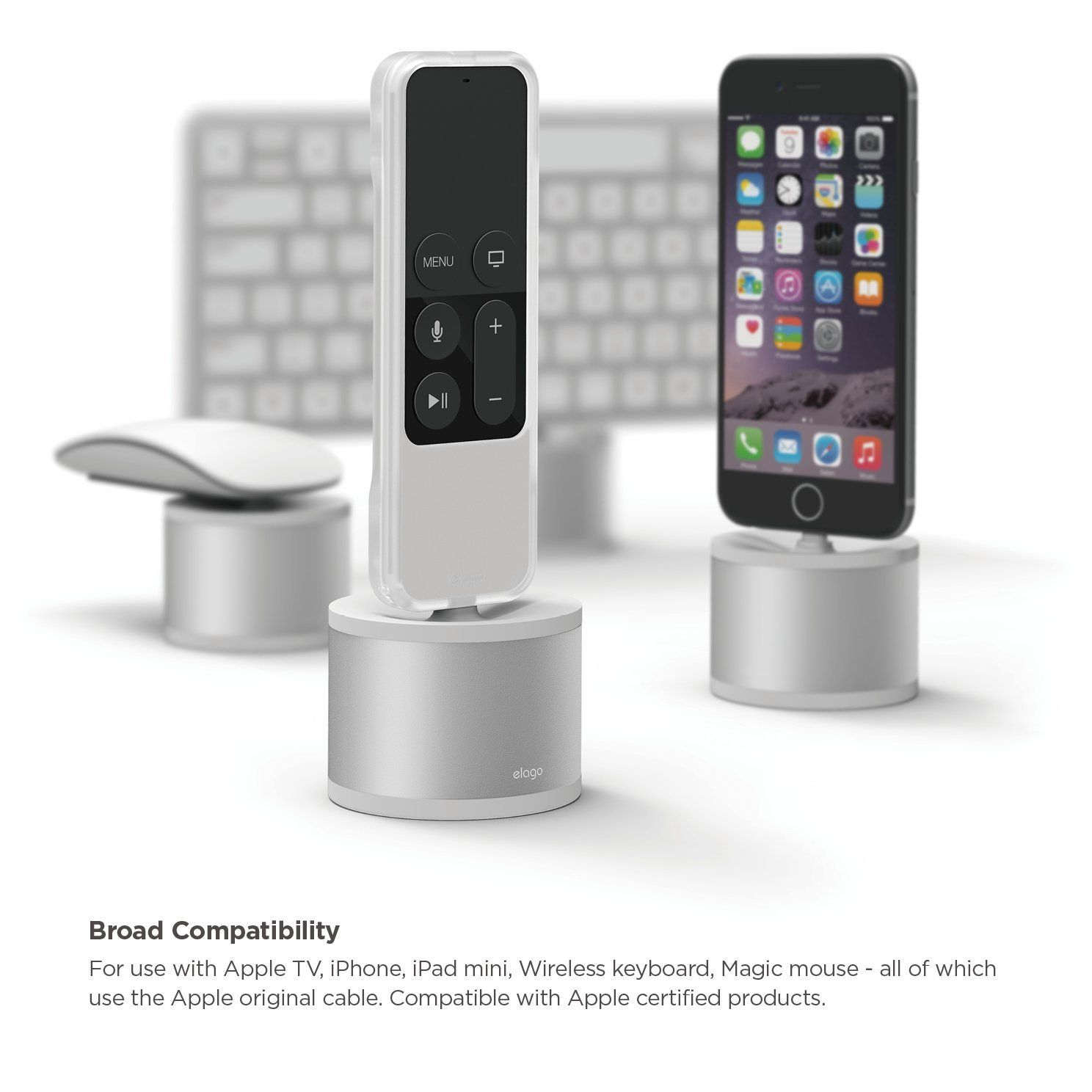 Amazon Com Elago D Stand Charging Station For Apple Tv Remote Iphone Ipad Mini Wireless Keyboard Magic Mouse With Images Ipad Mini Iphone Charging Station