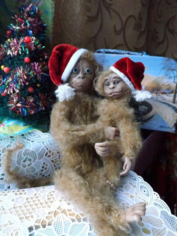 Купить Глаша.Обезьяна.Подарок 2016 года - коричневый, обезьяна, символ 2016 года