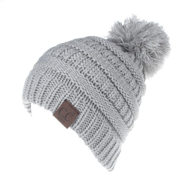 Men's Skullies & Beanies New Fashion Childrens Raccoon Fur Pompom Knit Beanies Hat Solid Color Winter Hat Wool Boy Girl Soft Cap Skullies Kids Baby Ski Discounts Sale