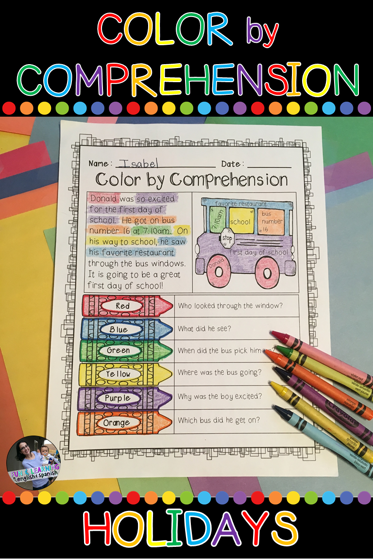 Holidays Bundle Color By Comprehension W Digital Option Distance Learning Learning Sight Words Comprehension Reading Comprehension Resources [ 1152 x 768 Pixel ]