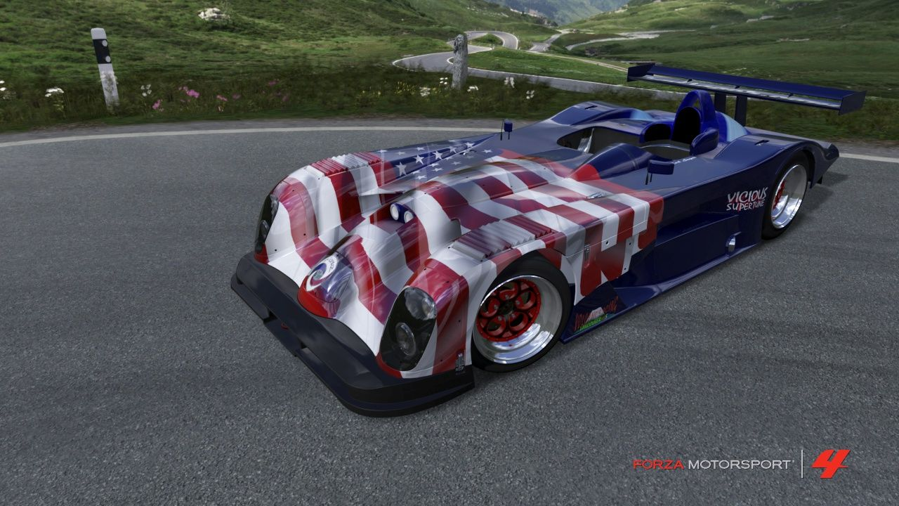 Panoz Gtp Car Decked Out In Usa Colors Forzalicious Car Deck