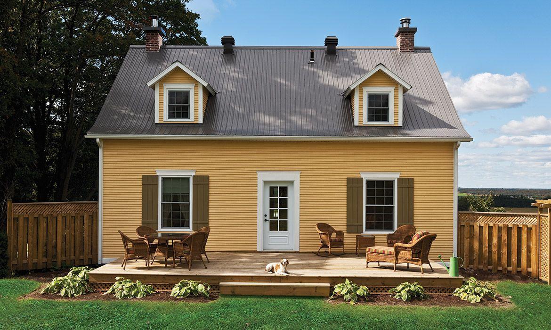 Amazing Ancestral House Siding Rabbeted Bevel In Maibec Harvest Yellow 5 Wood Siding Exterior Wood Siding White Molding