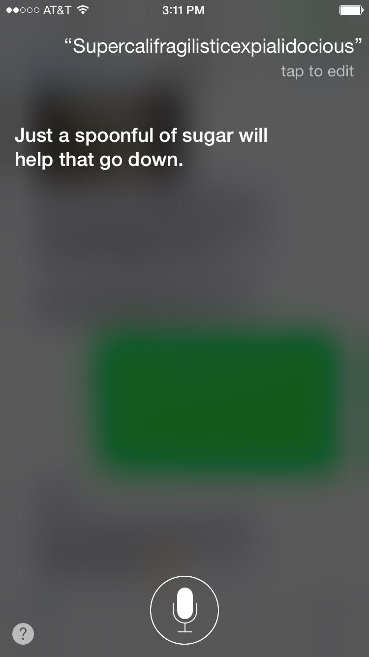 Siri.  What the heck!!!