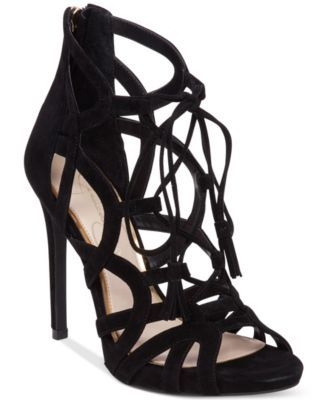714bebca3a9 Jessica Simpson Racine Lace-Up High-Heel Gladiator Sandals - Sandals -  Shoes - Macy s