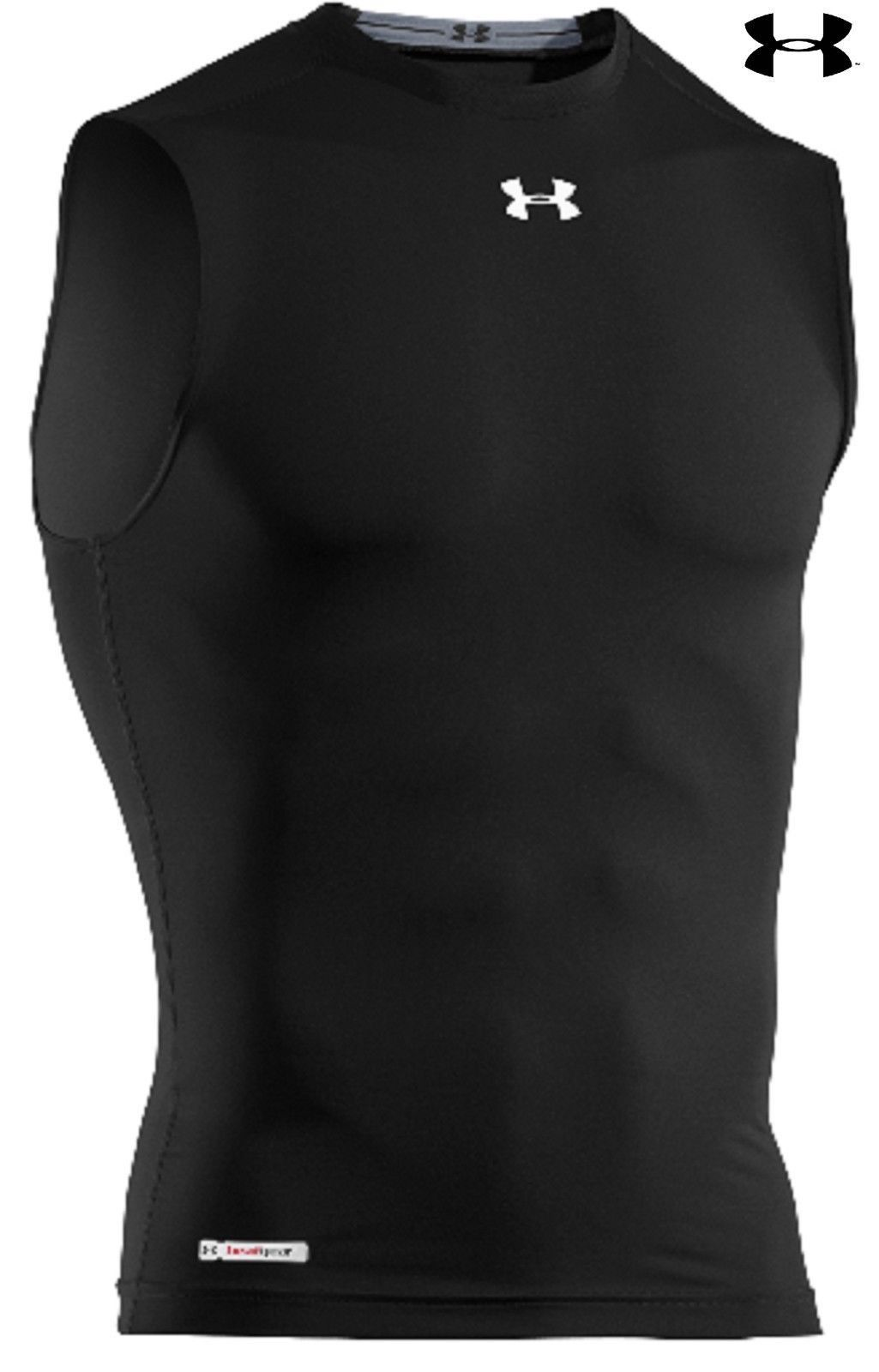 "30db1278f UNDER ARMOUR SLEEVELESS HEATGEAR SONIC COMPRESSION T-SHIRTS Meet HeatGear®  Sonic. We started the ""performance"" revolution with our original HeatGear®  ..."