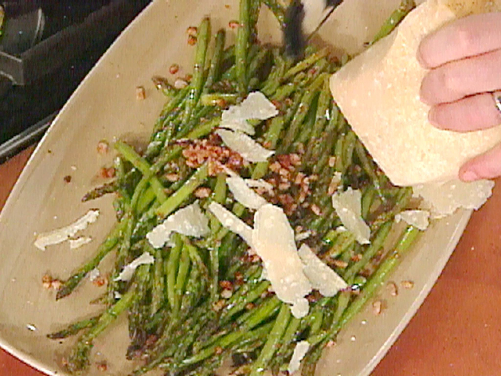 Photo of Roasted Asparagus with Tasso recipe from Emeril Lagasse via Food Network –  Roas…