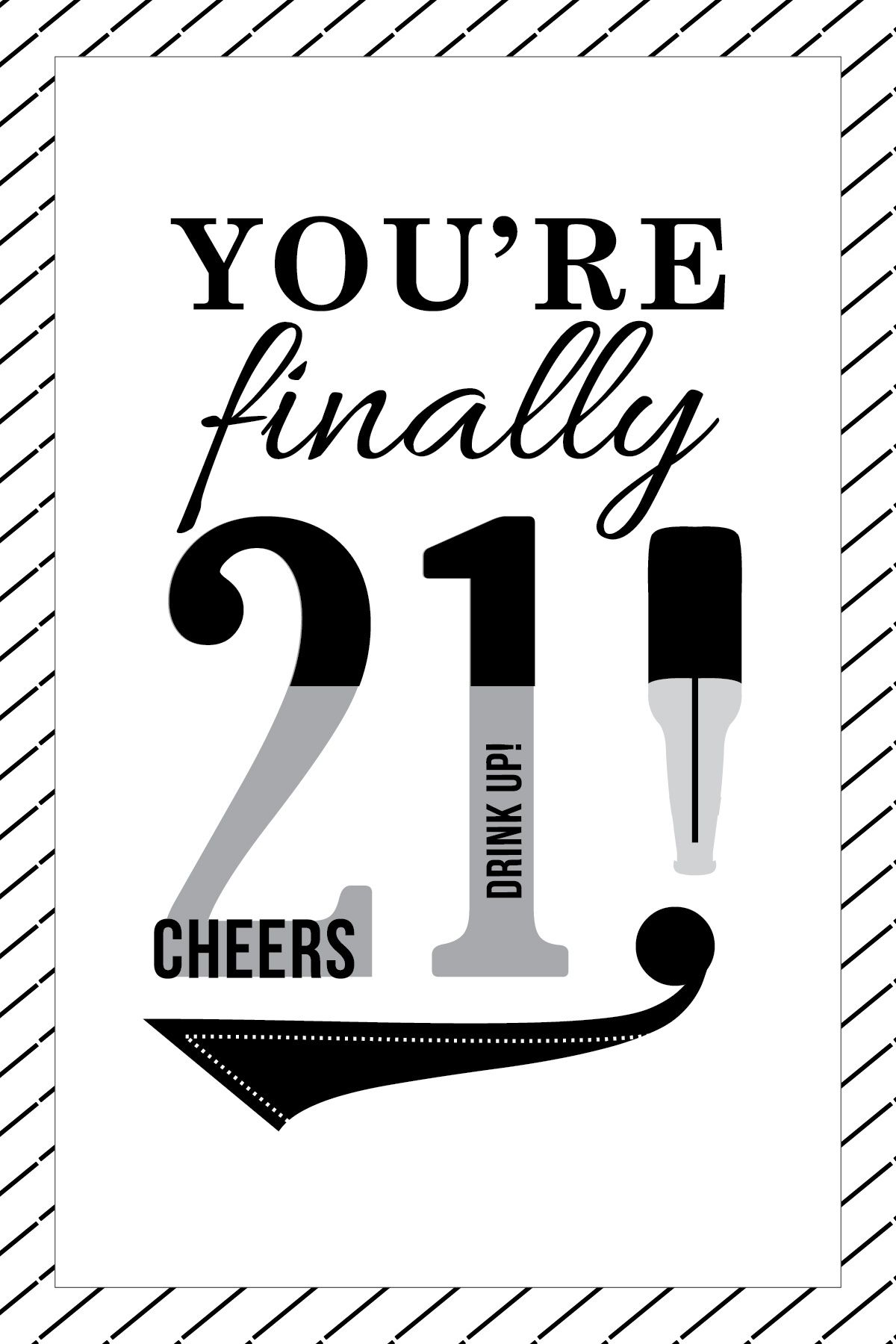 Happy 21st Birthday Card Cards Quotes Wishes