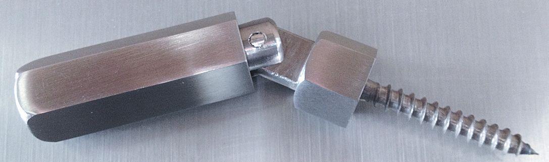 Kit tendeur pour câble Ø4mm fixation bois en inox 316l, finition brossé.
