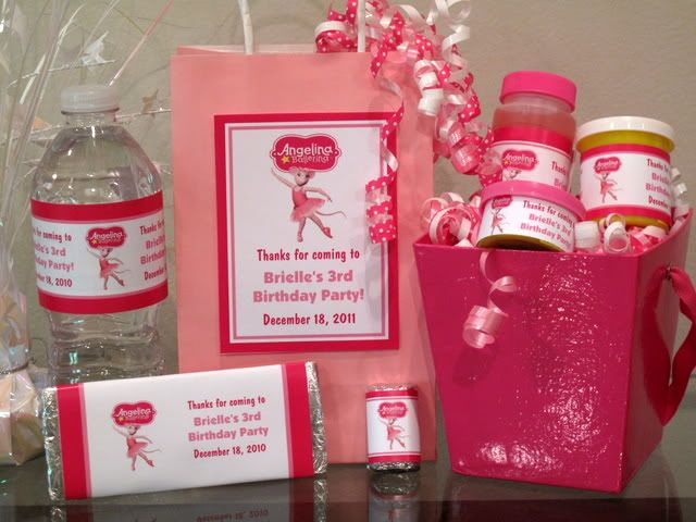 Angelina Ballerina Birthday Party Invitation Favor Water Gum Candy – Angelina Ballerina Birthday Invitations