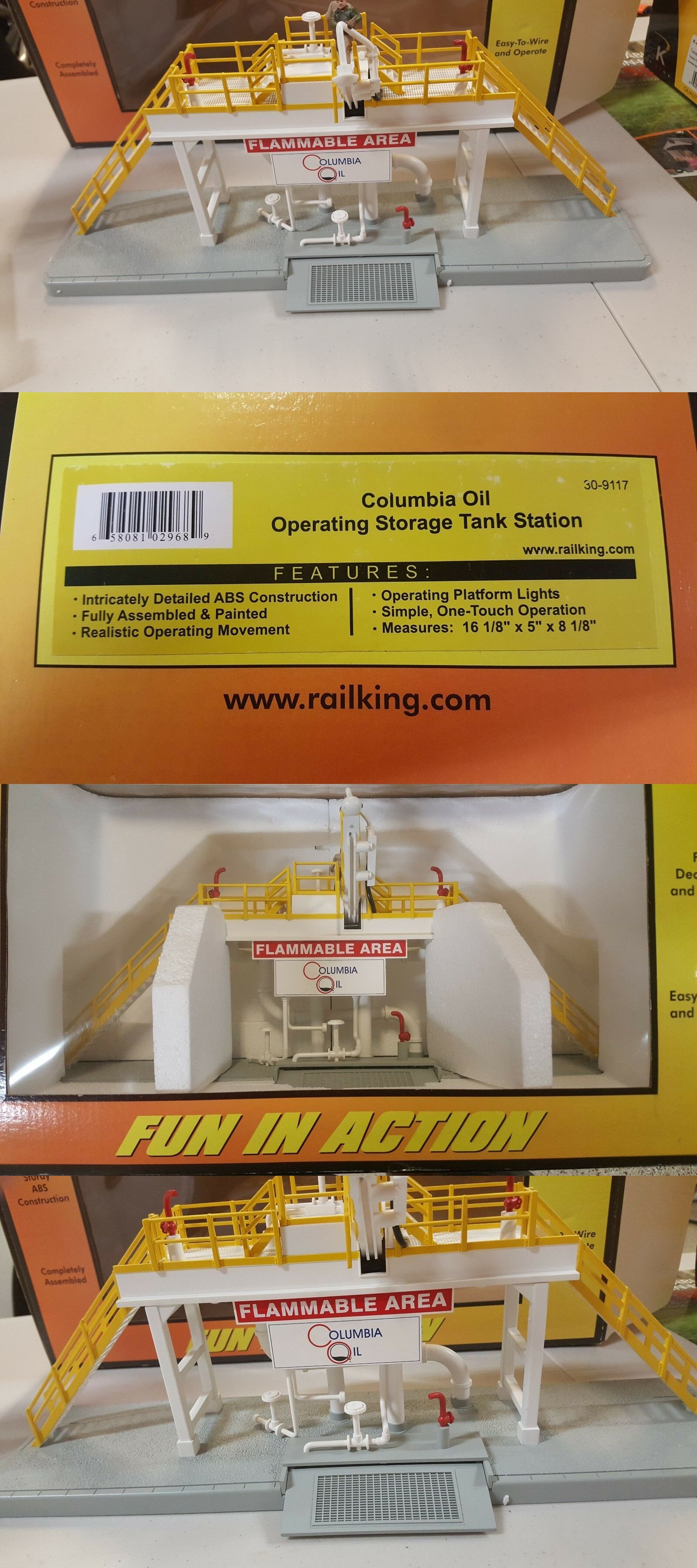 medium resolution of o scale 19145 mth 30 9117 operating storage columbia oil tank station 0 gauge nib buy it now only 125 on ebay scale operating storage columbia
