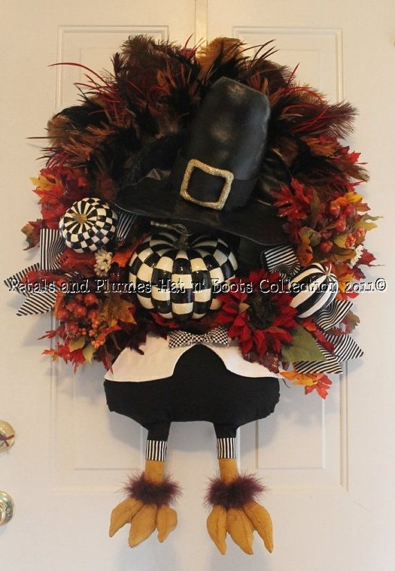 thanksgiving wreath is too stinking cute