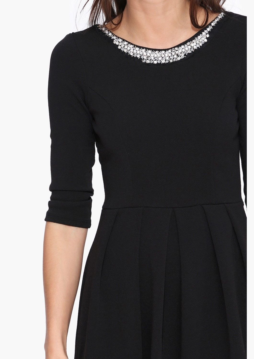 great details on this simple black dress