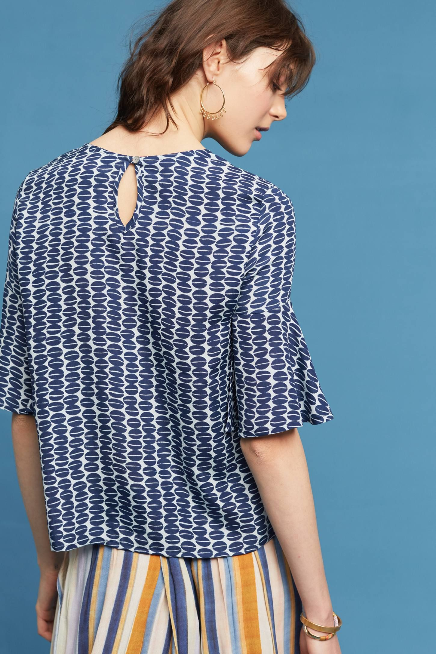 Anthropologie Anand Silk Blouse