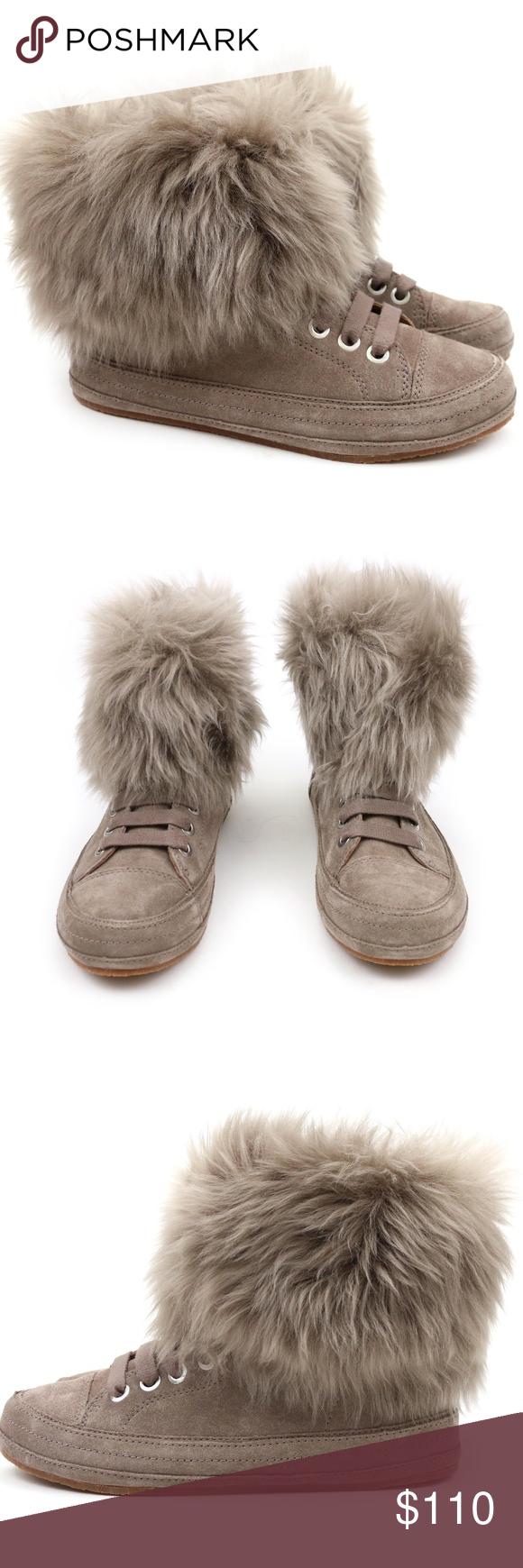 ce23dae05bc UGG Australia Antoine Fur Slate Sheepskin Sneakers This fresh and ...
