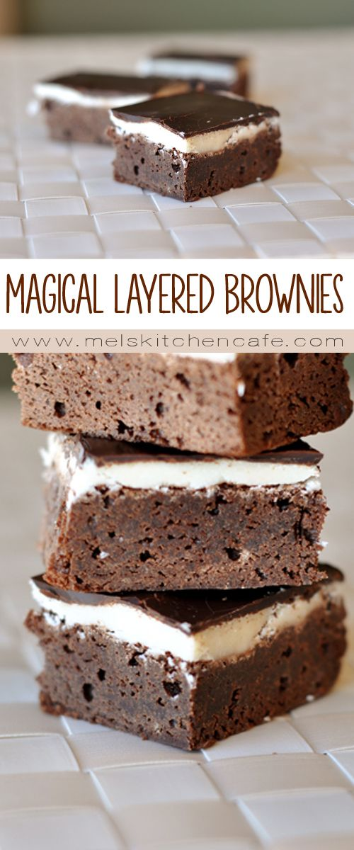 magical layered brownies recipe all mel s kitchen cafe recipes