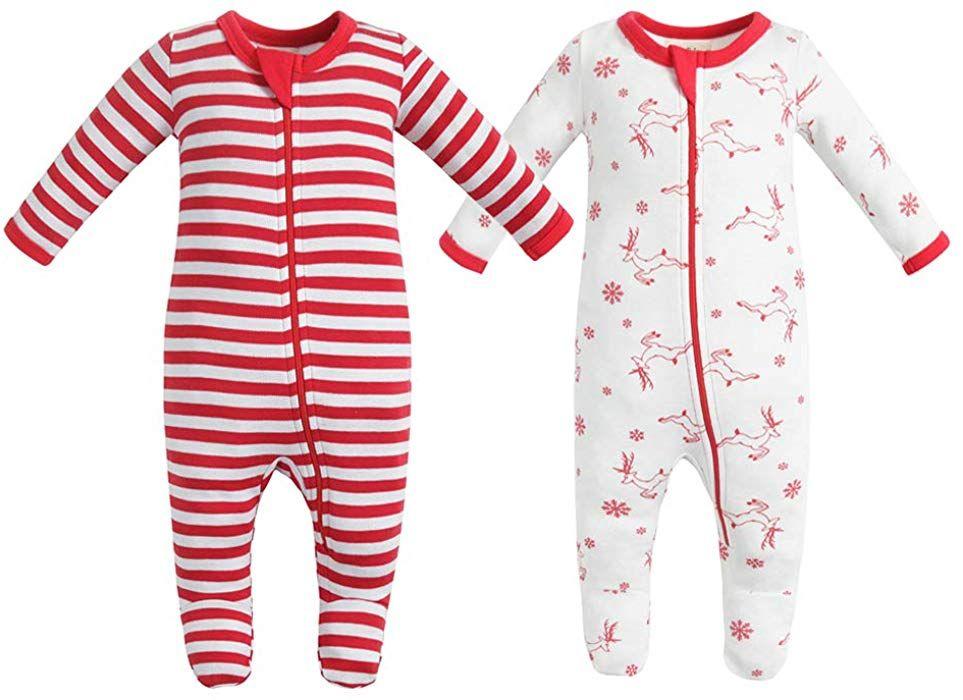 2823385f3e90 Amazon.com  Owlivia Organic Cotton Baby Boy Girl 2 Pack Zip Front ...
