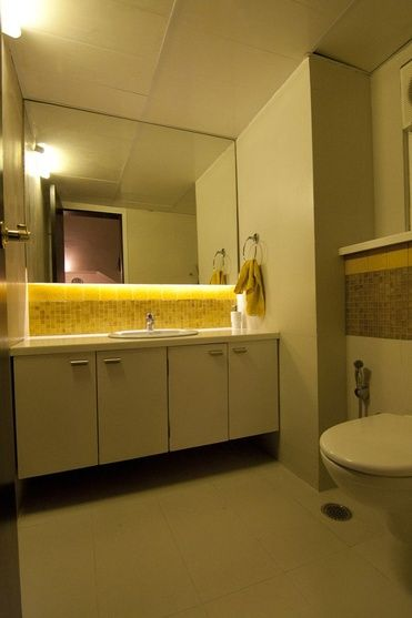 Wash Basin With Mirror And Cabinet By Kamat Rozario Architecture