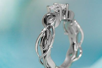 art nouveau ring wedding dresses and rings pinterest jewelry