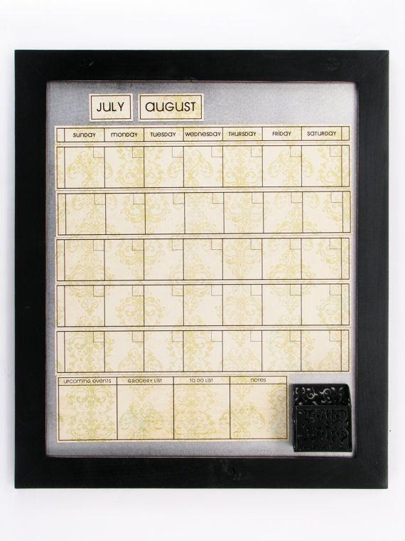 Large Magnetic Dry/Wet Erase Calendar with 6 by calendarsandchores, $78.00
